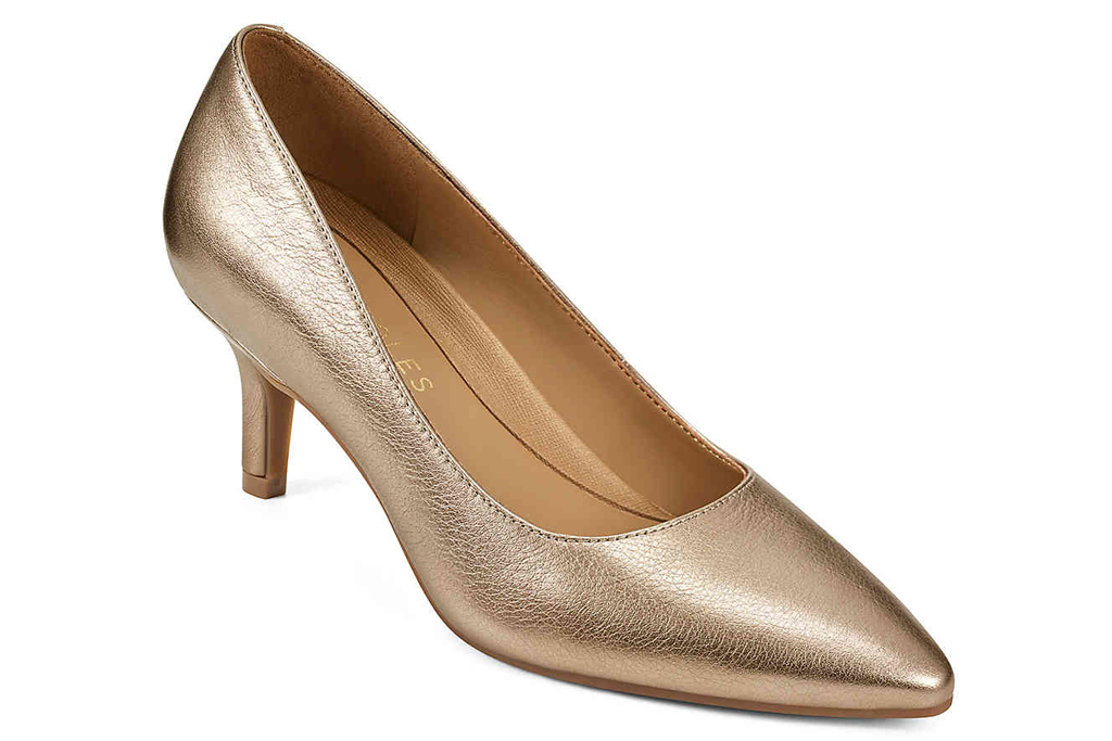 aerosoles, gold heels