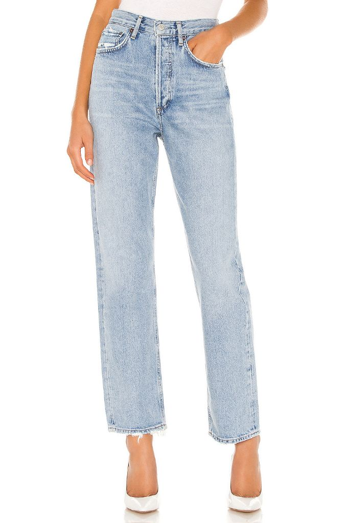 agolde 90s jeans, work from home fashion, revolve