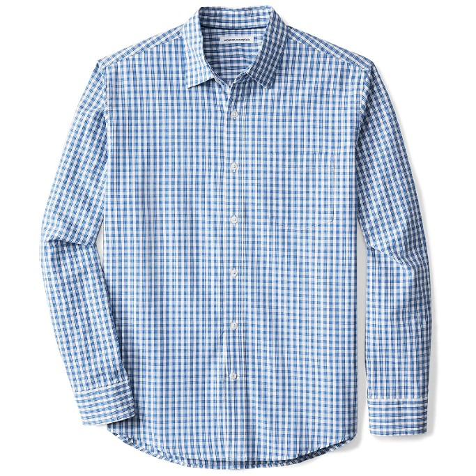 Amazon Essentials Long-Sleeve Plaid Shirt