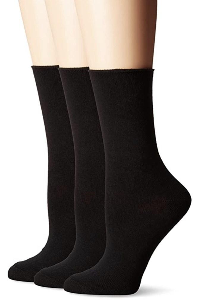 No Nonsense Women's Jean Sock, 3 Pair Pack, black socks, socks and sandals trend