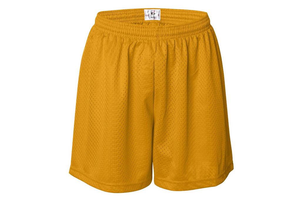 badger, mesh shorts, yellow