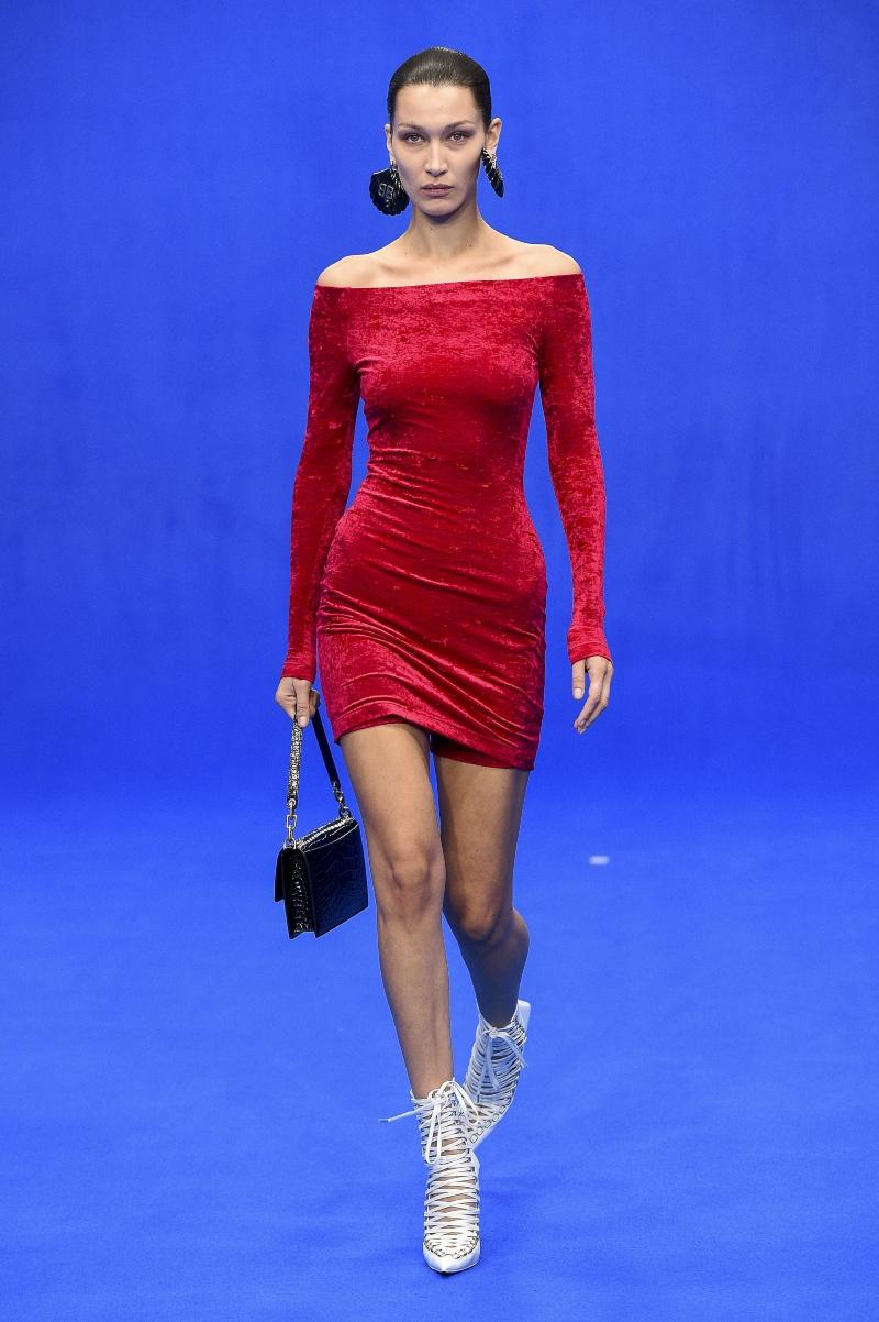 bella hadid, heels, balenciaga, pfw, spring 2020