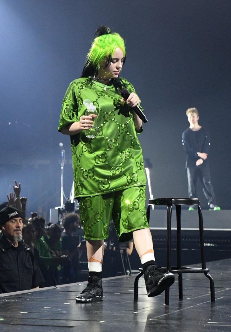 Billie EiIish Wears Slime Green and Air