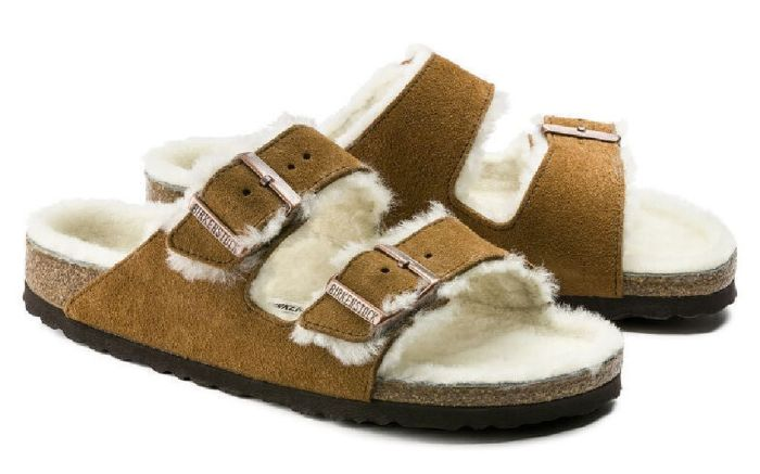 birkenstock, arizona shearling, sandals, work from home, style diary