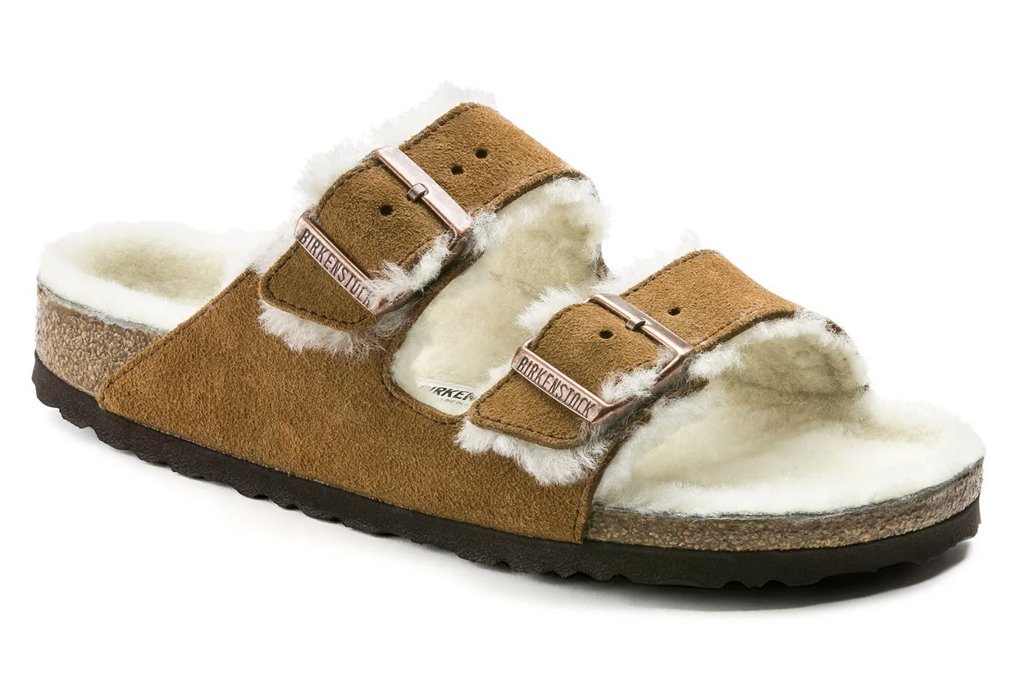 Birkenstock Arizona Shearling sandals, birkenstock