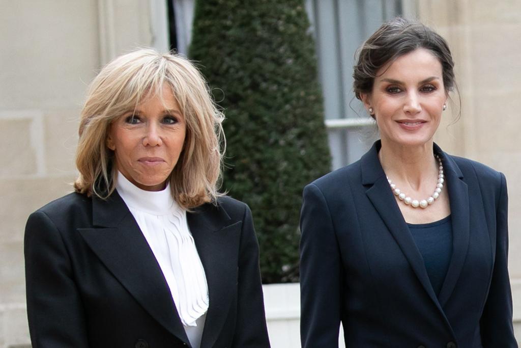 Brigitte Macron Wears Louis Vuitton Boots To Meet The Queen Of Spain Footwear News