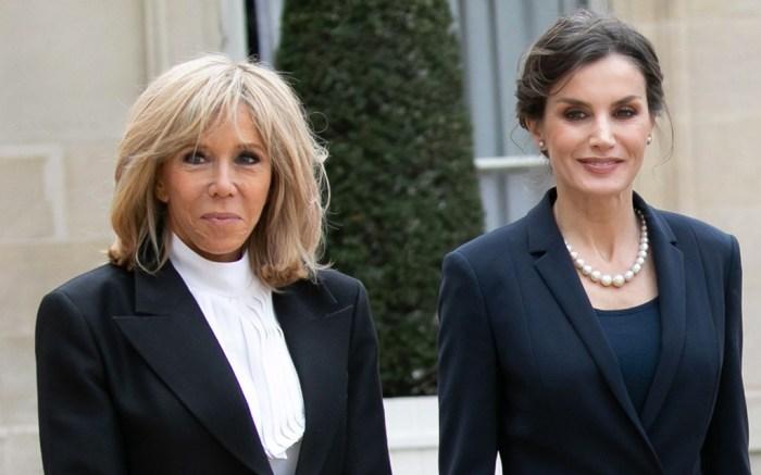 brigitte macron, paris, louis vuitton, boots, designer, coat, france, queen letizia