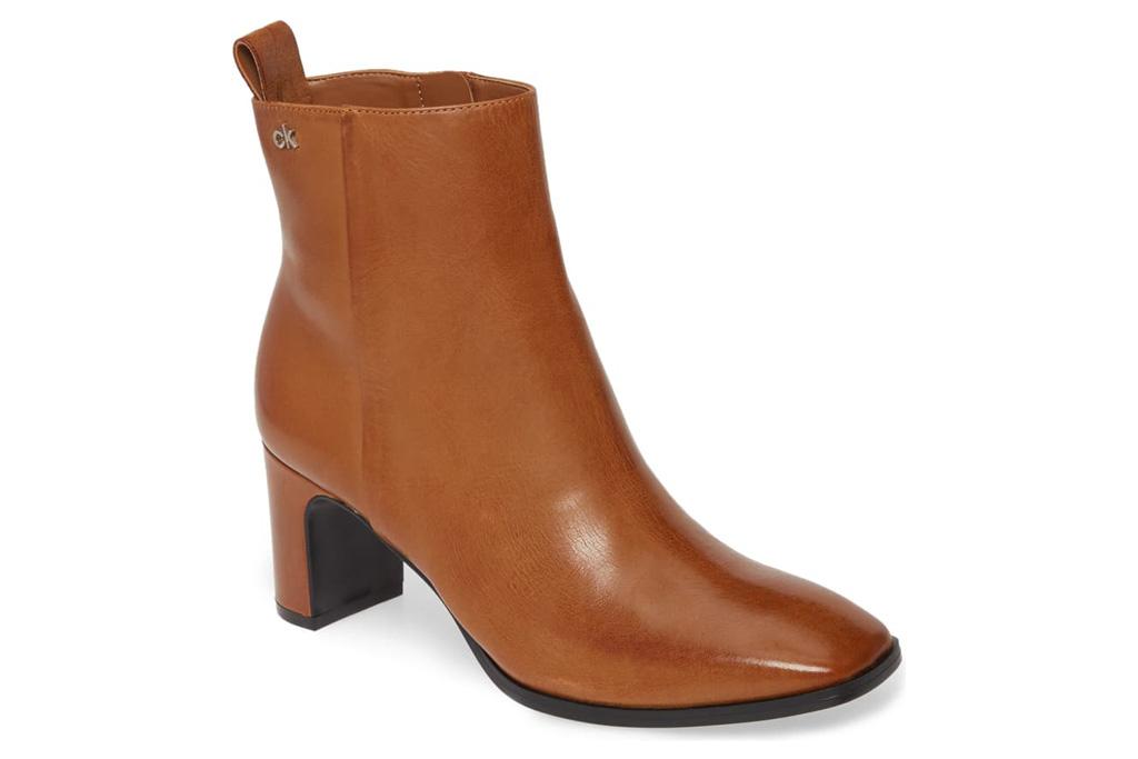 calvin klein boots, boots, brown