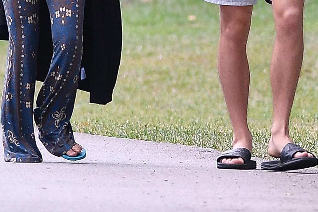 camila cabello, shawn mendes, walk, miami, thong sandal, slides, nike