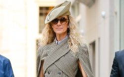 Celine Dion looks stylish while posing