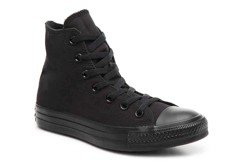 converse, sneakers, all-black, high top
