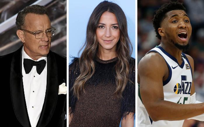 Tom Hanks Arielle Charnas Donovan Mitchell Coronavirus
