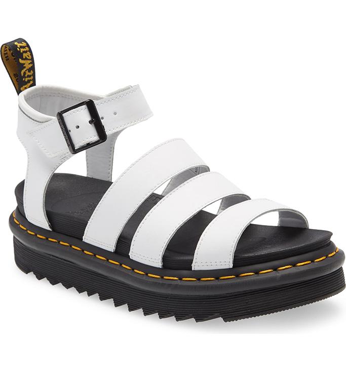 Dr. Marten's Blair Sandal, socks and sandals trend, white sandal