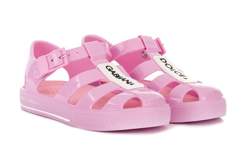 dolce gabanna kids jelly sandals