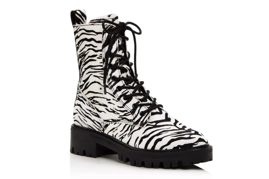 dolce vita, boots, zebra
