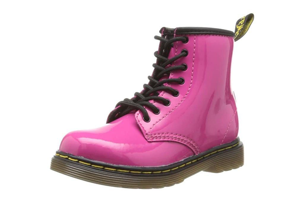 dr martens, combat boots, pink