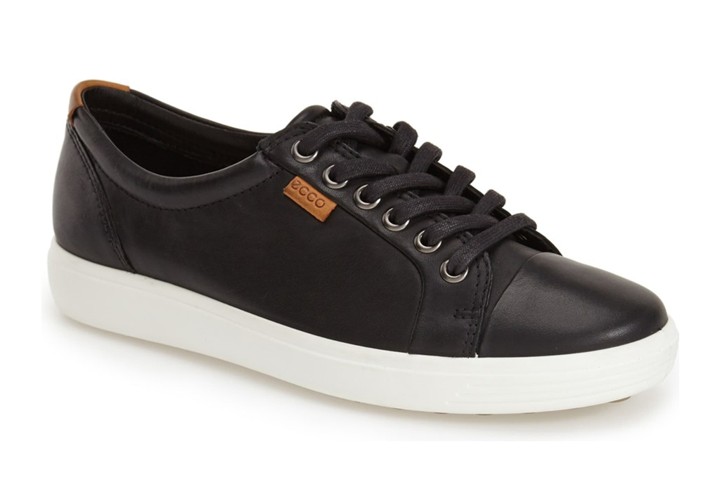 ecco, sneakers, black, white, low