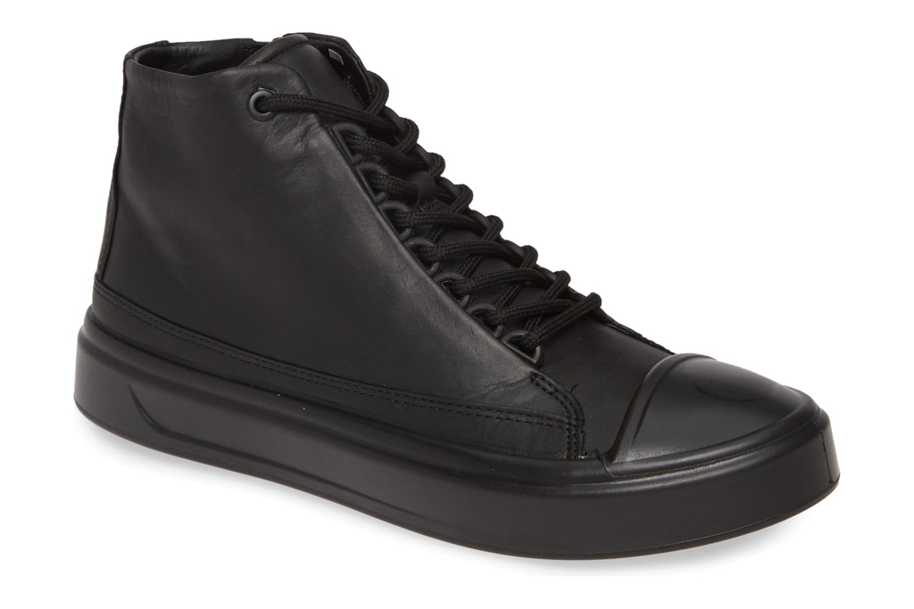 ecco, sneakers, all black, high top