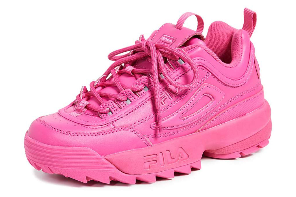 fila sneakers, hot pink