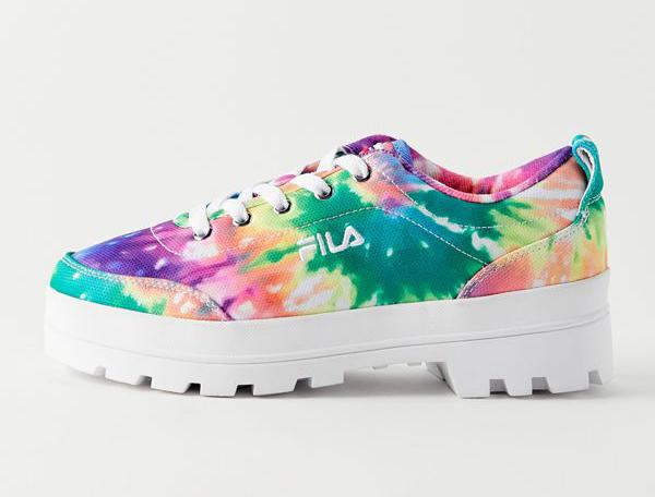 fila, tie-dye, sneakers
