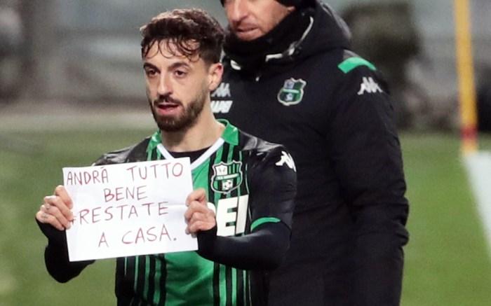 Francesco Caputo Serie A Soccer Italy Coronavirus