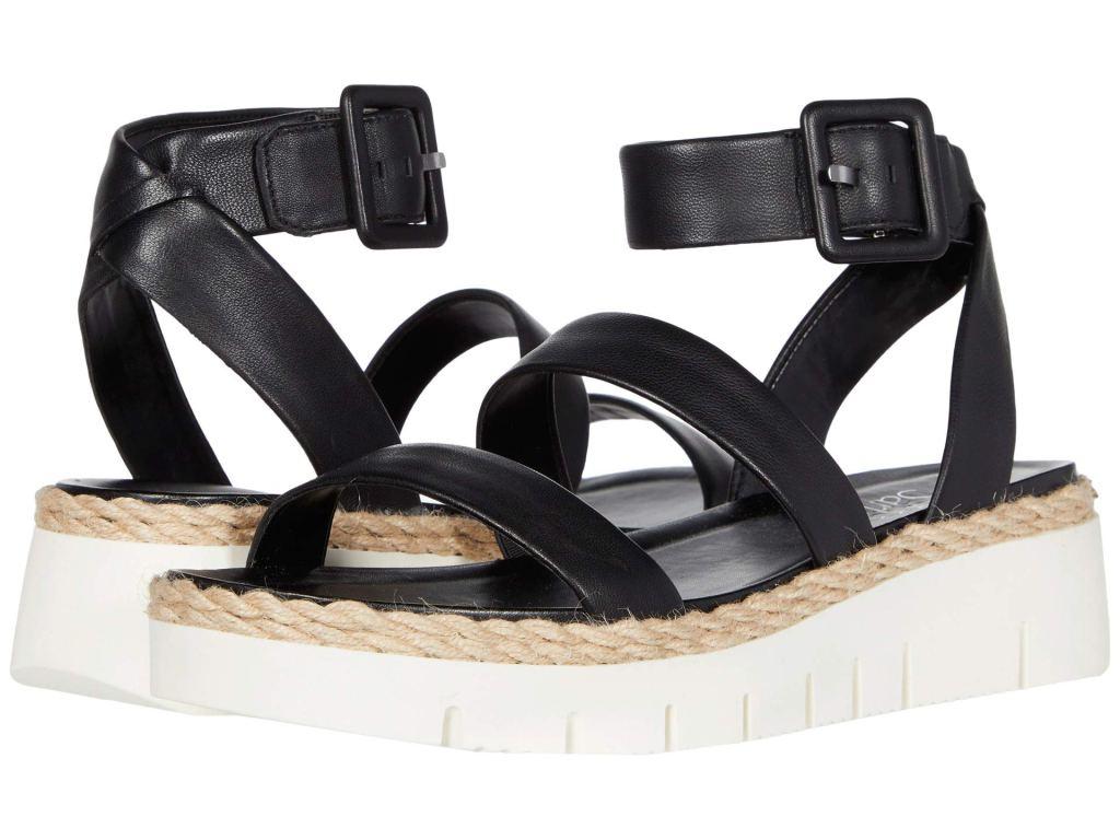 Franco Sarto Jackson Sandal, black espadrilles, socks and sandal trend