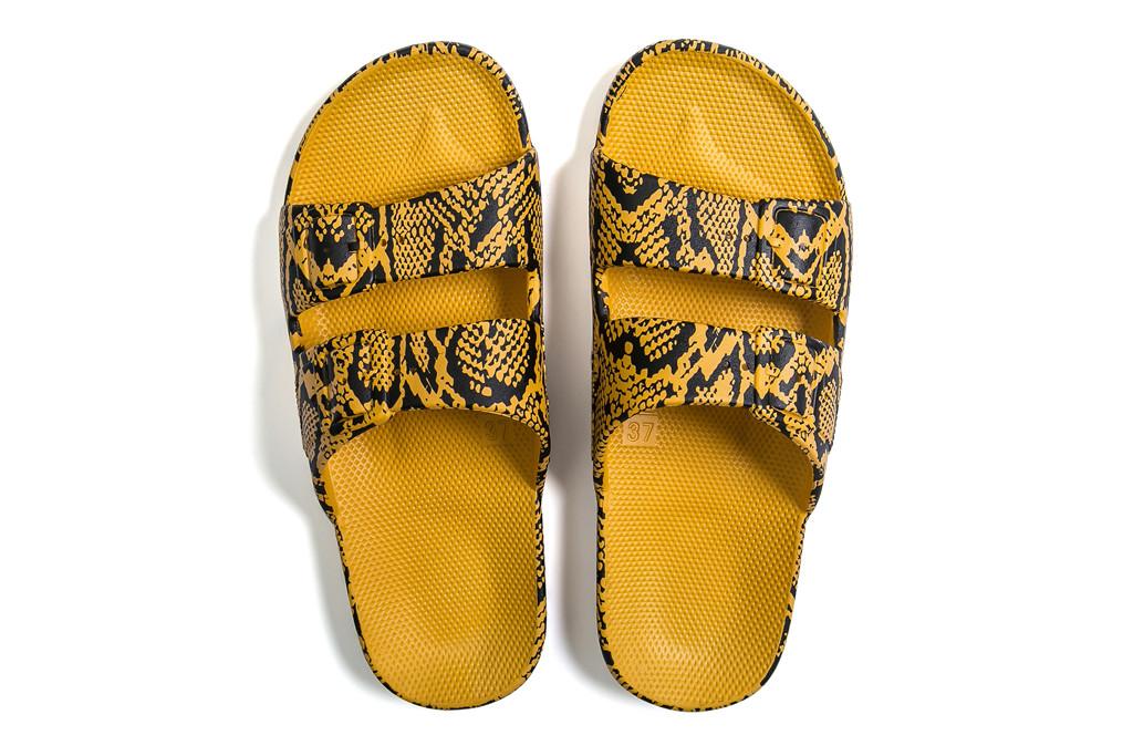 Freedom Moses, Cobra sandal, yellow sandal