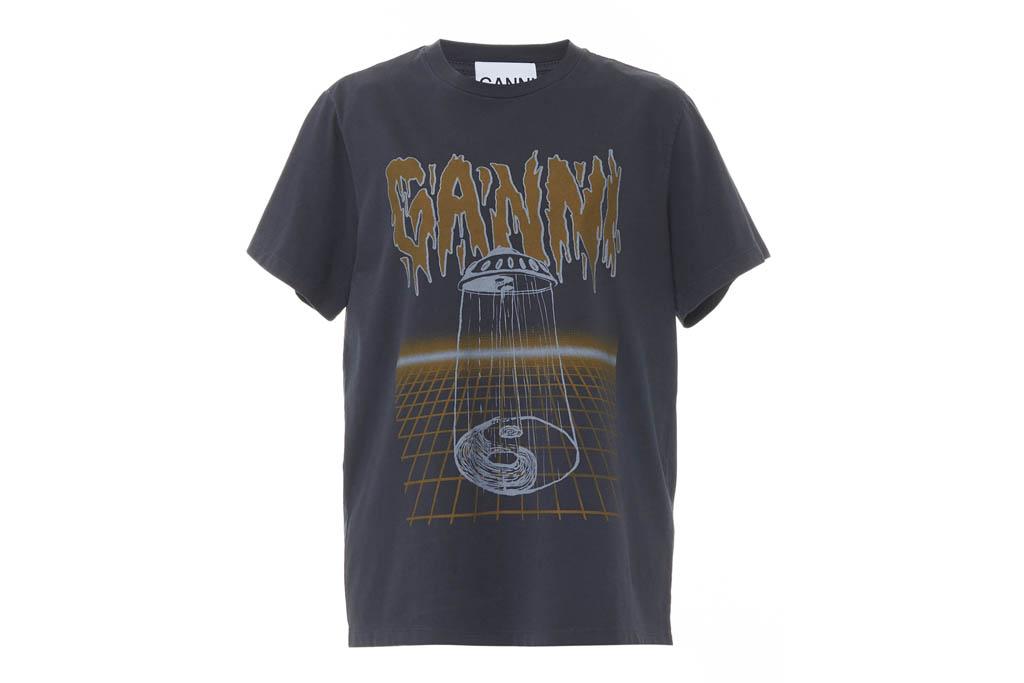 ganni, printed t-shirt