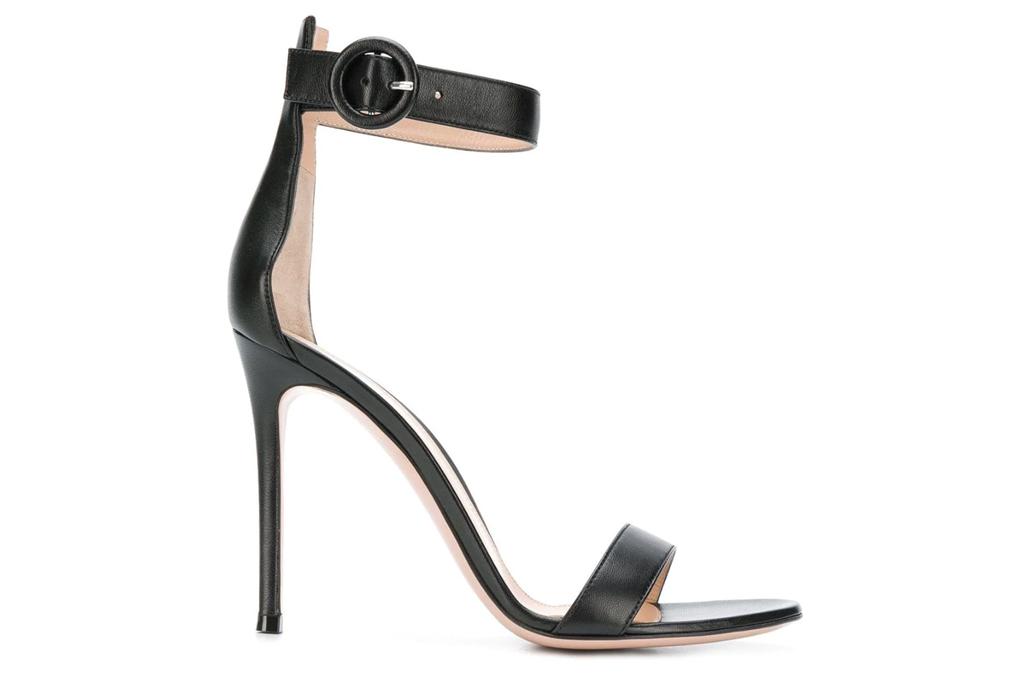 gianvito rossi, sandals, strappy, black