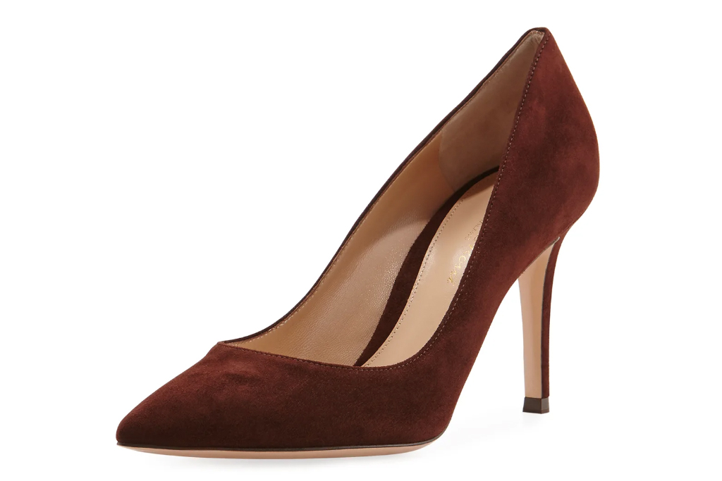gianvito rossi pumps, red, suede