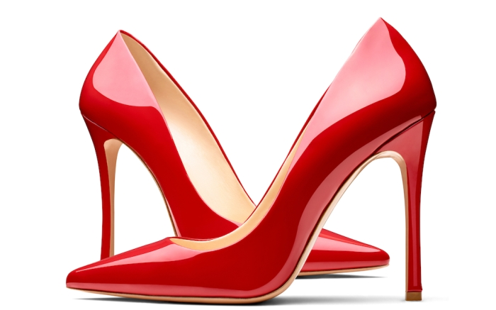 close up of red high heels on white background; Shutterstock ID 1149370748; Usage (Print, Web, Both): Web; Issue Date: 2/3