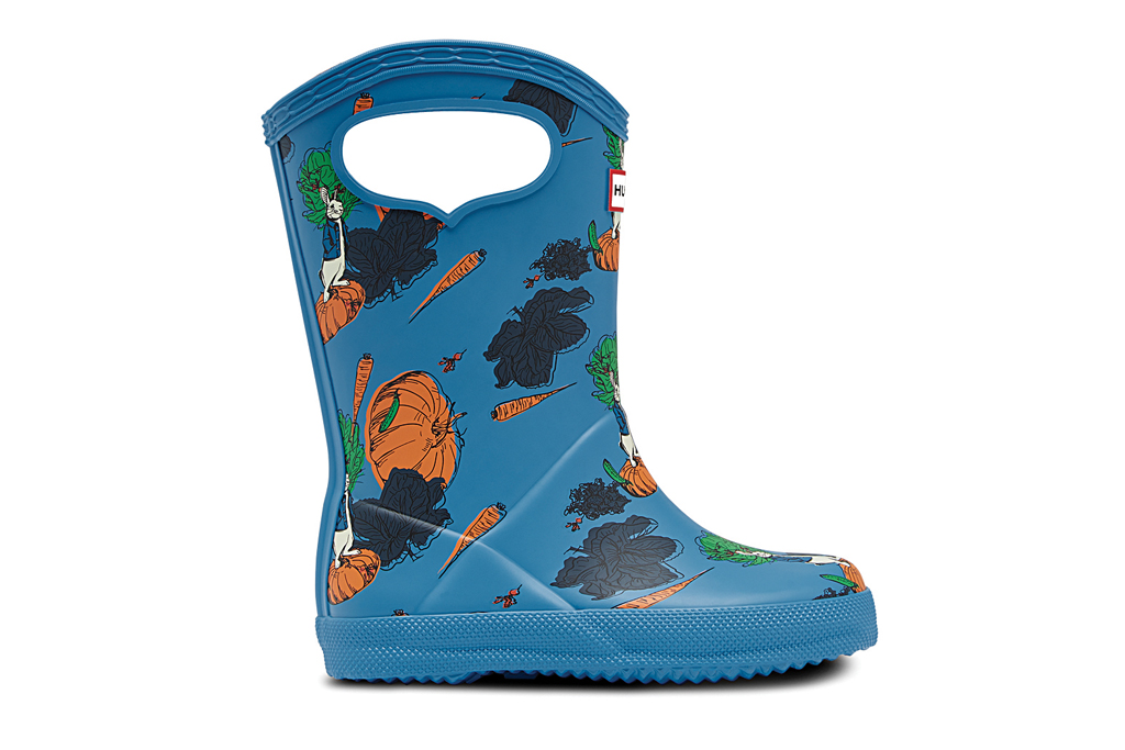 hunter, peter rabbit, rain boots