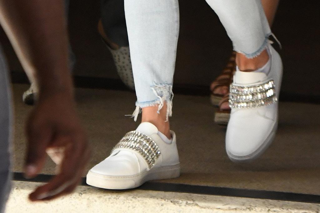 J-Lo, jennifer lopez, zcd sneakers, sparkly sneakers, celebrity style, street style, miami