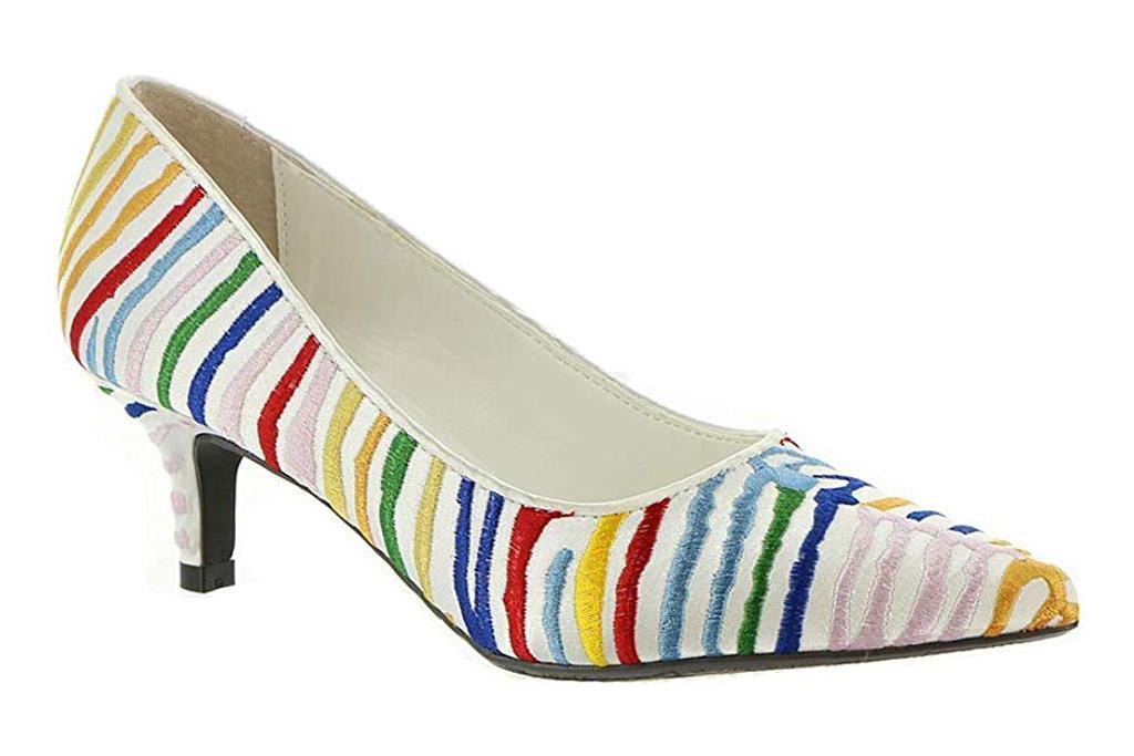 j renee, striped heels