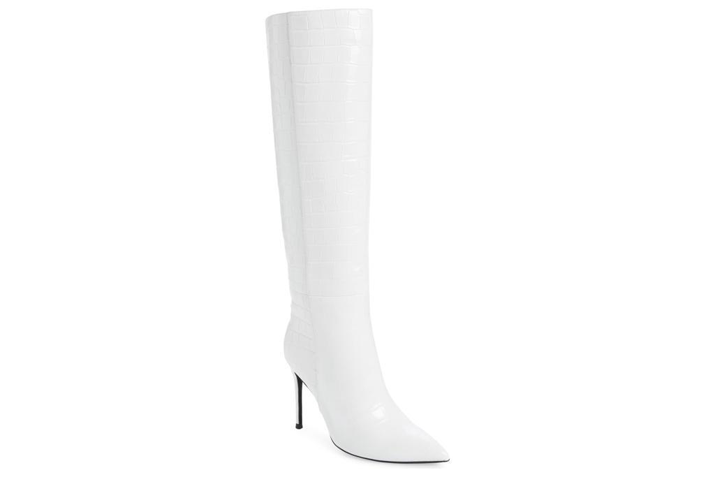 jeffrey campbell, white boots, tall