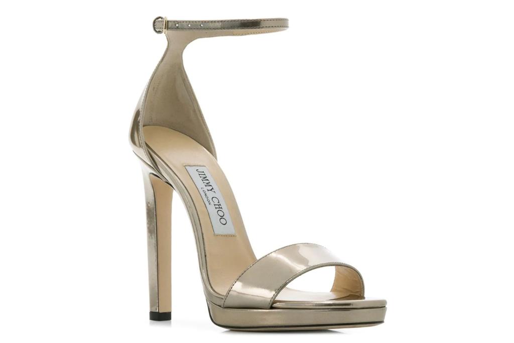 jimmy choo, gold sandal, platform