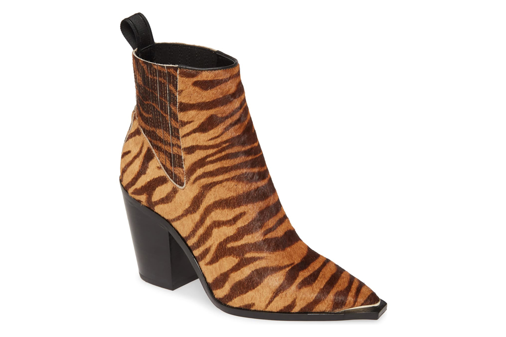 kenneth cole, west side, tiger, booties