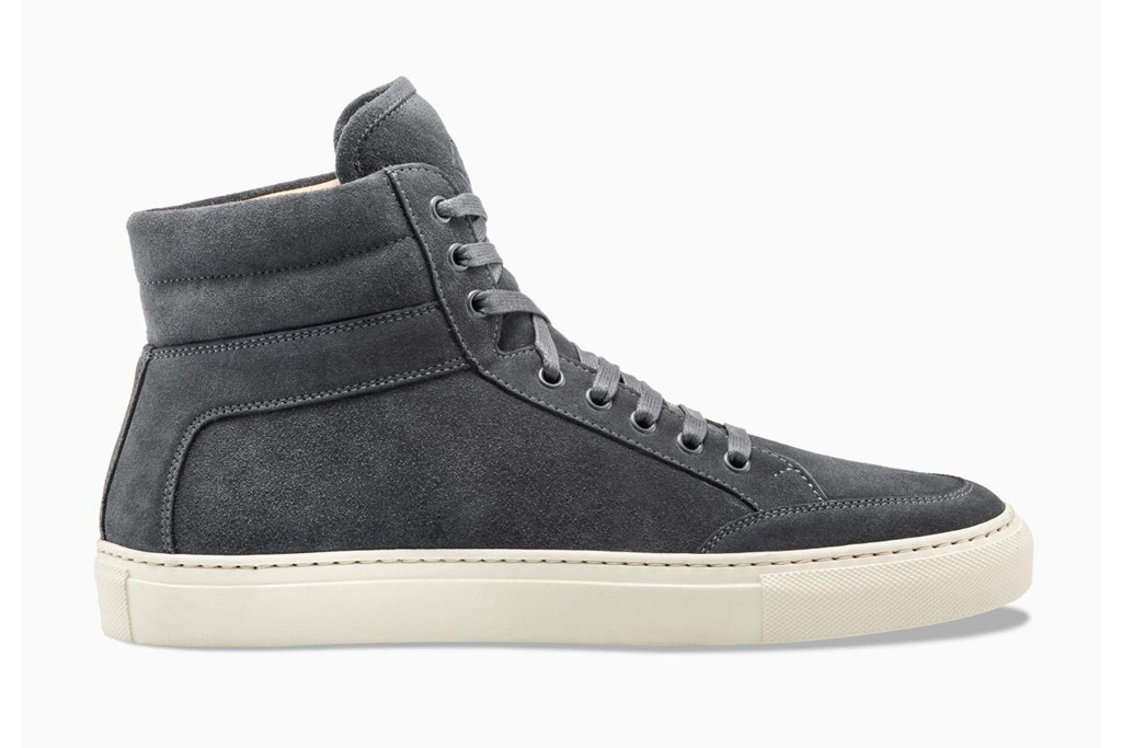 koio sneakers, high top, gray
