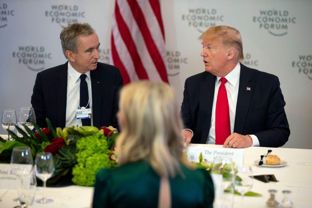 bernard arnault, donald trump, davos, 2020, world economic forum