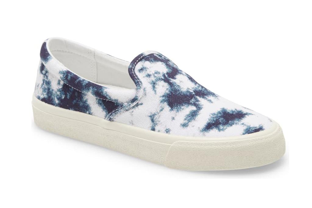 madewell, tie-dye sneakers, blue