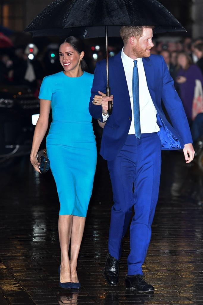 Meghan markle, victoria beckham dress, blue dress, manolo blahnik heels, manolo blahnik bb pumps, celebrity style, Duchess of Sussex and Prince Harry4th Endeavour Fund Awards, Mansion House, London, UK - 05 Mar 2020The Duke and Duchess of Sussex attend the annual Endeavour Fund Awards. Their Royal Highnesses celebrate the achievements of wounded, injured and sick servicemen and women who have taken part in remarkable sporting and adventure challenges over the last year. The Endeavour Fund supports the ambitions of these men and women to use challenges to help with their physical, psychological and social recovery and rehabilitation. The annual awards, now in their fourth year, brings together hundreds of wounded, injured and sick Service personnel and veterans as well as their families, friends and supporters of the military community. The awards ceremony, which will be hosted by former Invictus Games medallist JJ Chalmers, will see four prizes awarded on the night: Recognising Achievement Award, Celebrating Excellence Award, Henry Worsley Award and The Community Impact Award, a brand-new award for this yearMeghan Duchess of Sussex and Prince Harry4th Endeavour Fund Awards, Mansion House, London, UK - 05 Mar 2020The Duke and Duchess of Sussex attend the annual Endeavour Fund Awards. Their Royal Highnesses celebrate the achievements of wounded, injured and sick servicemen and women who have taken part in remarkable sporting and adventure challenges over the last year. The Endeavour Fund supports the ambitions of these men and women to use challenges to help with their physical, psychological and social recovery and rehabilitation. The annual awards, now in their fourth year, brings together hundreds of wounded, injured and sick Service personnel and veterans as well as their families, friends and supporters of the military community. The awards ceremony, which will be hosted by former Invictus Games medallist JJ Chalmers, will see four prizes awarded on the night: Re