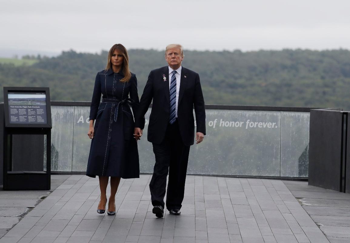 melania trump, 9/11, blue dress, custom