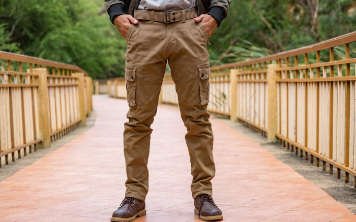 Model wearing cargo pants or cargo trousers; Shutterstock ID 1227233929; Usage (Print, Web, Both): web; Issue Date: 3/30