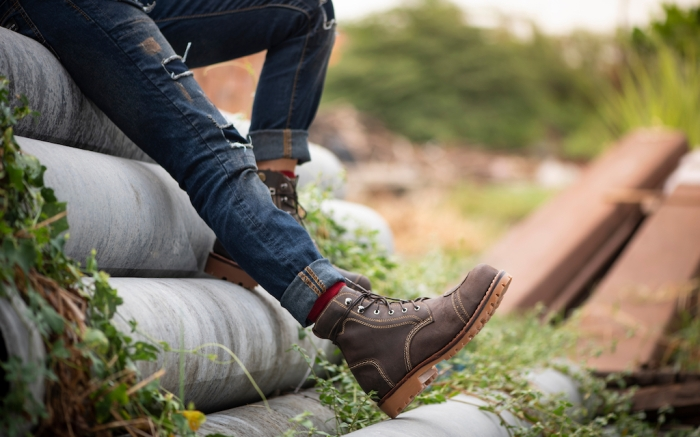 Fashion men's legs in jeans and brown boots leather for man collection.; Shutterstock ID 1363314281; Usage (Print, Web, Both): Web; Issue Date: 2/3