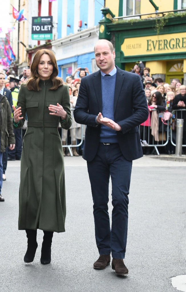 kate middleton, alexander mcqueen coat, ralph lauren boots, suzannah dress, celebrity style, Prince William and Catherine Duchess of Cambridge at Tig Coili traditional Irish pub, GalwayPrince William and Catherine Duchess of Cambridge visit to Ireland - 05 Mar 2020