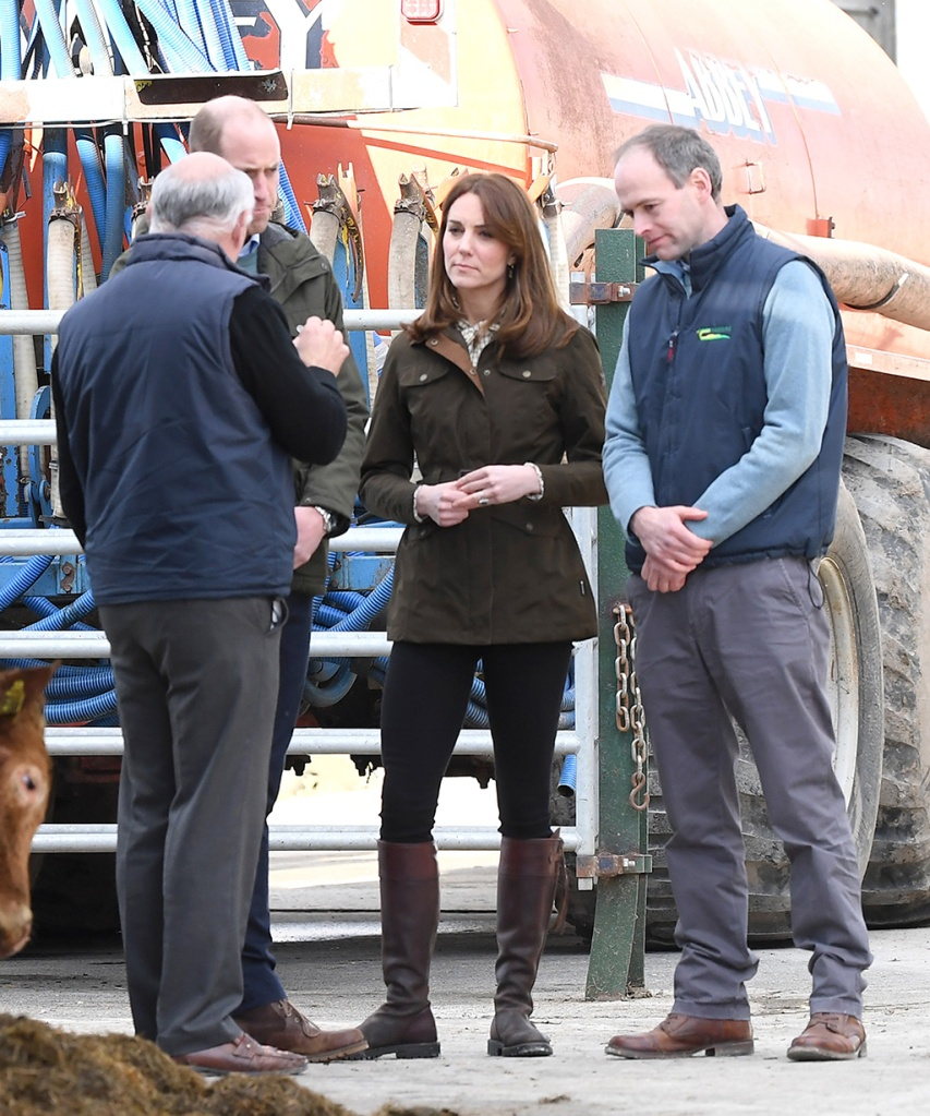 kate middleton, green jacket, penelope chilvers boots, brown boots, skinny jeans, celebrity style, royal fashion, The Duke and Duchess of Cambridge visit Teagasc Research Farm in County Meath to hear about their pioneering research to promote sustainable farming across Ireland. They will speak to a group of farmers who have implemented the research into their own practices. Their Royal Highnesses will then meet a group of primary school children visiting the farm, and will join a session as they learn about the environment, nutrition, and food production.Pictured: Catherine,Duchess of Cambridge,Prince William,Duke of CambridgeRef: SPL5153979 040320 NON-EXCLUSIVEPicture by: SplashNews.comSplash News and PicturesLos Angeles: 310-821-2666New York: 212-619-2666London: +44 (0)20 7644 7656Berlin: +49 175 3764 166photodesk@splashnews.comWorld RightsThe Duke and Duchess of Cambridge visit Teagasc Research Farm in County Meath to hear about their pioneering research to promote sustainable farming across Ireland. They will speak to a group of farmers who have implemented the research into their own practices. Their Royal Highnesses will then meet a group of primary school children visiting the farm, and will join a session as they learn about the environment, nutrition, and food production.Pictured: Catherine,Duchess of Cambridge,Prince William,Duke of CambridgeRef: SPL5153979 040320 NON-EXCLUSIVEPicture by: SplashNews.comSplash News and PicturesLos Angeles: 310-821-2666New York: 212-619-2666London: +44 (0)20 7644 7656Berlin: +49 175 3764 166photodesk@splashnews.comWorld Rights