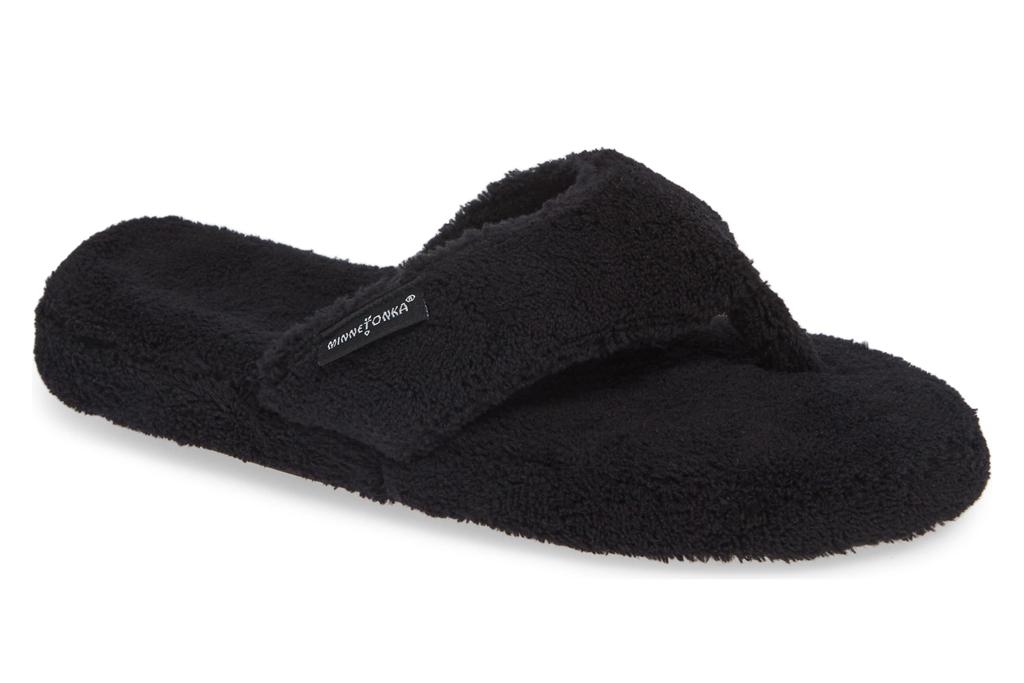 minnetonka, slippers, flip flop