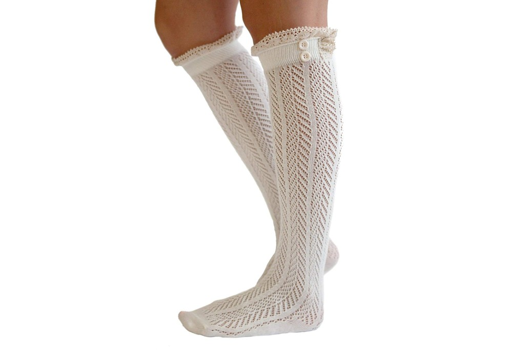 modern boho button boot socks