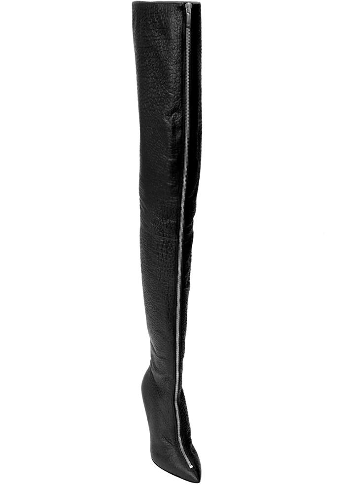 monika chiang boots, boots, zip front, heidi klum