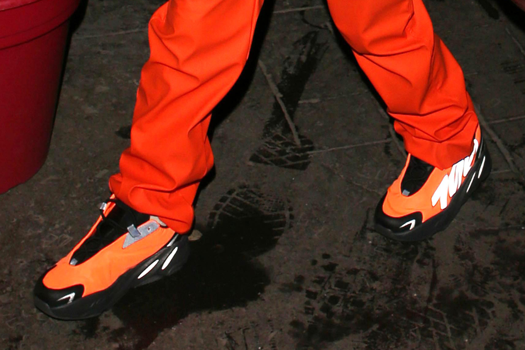 north west, shoe detail, paris, adidas yeezy boost MNVM